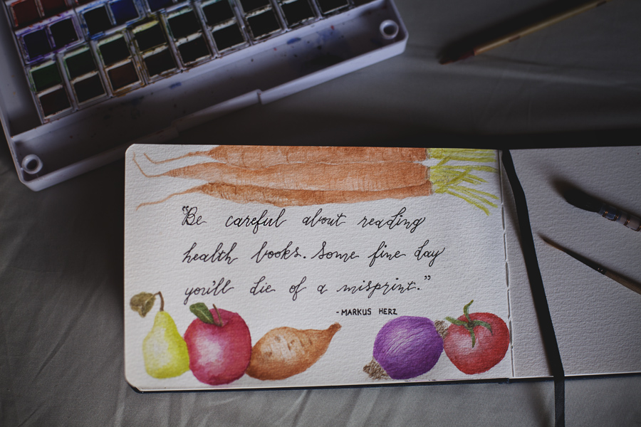 watercolor painting text